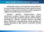 muhasebe s stem ned r 5018 49