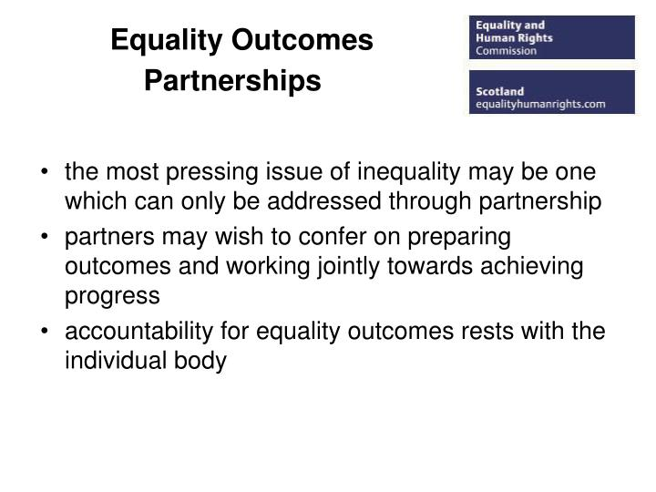 Equality Outcomes Partnerships