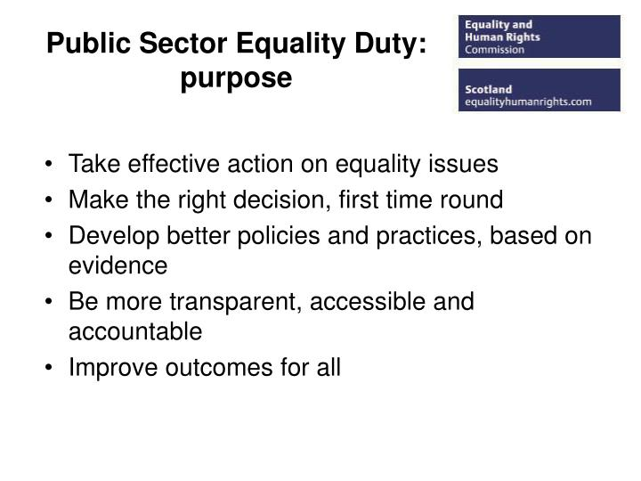 Public sector equality duty purpose