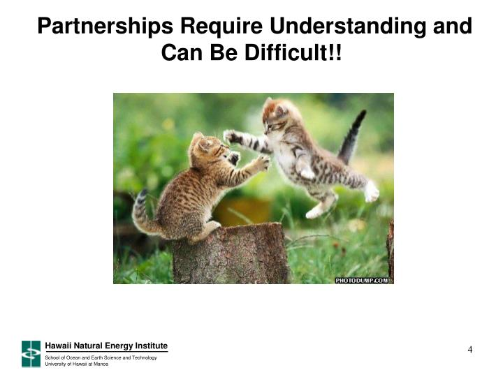 Partnerships Require Understanding and Can Be Difficult!!