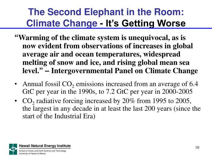 The Second Elephant in the Room: