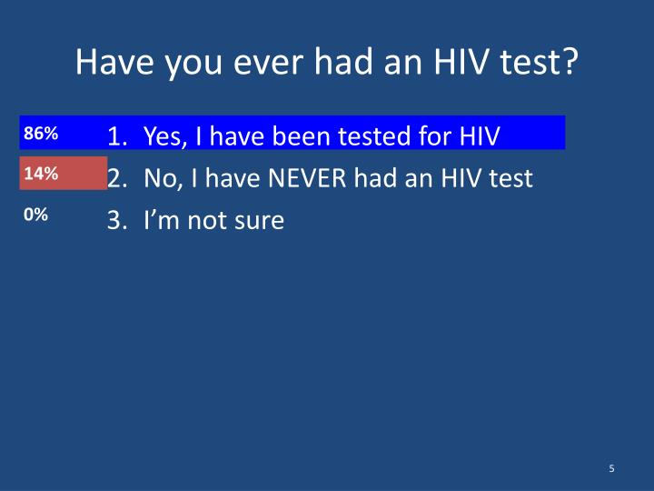 Have you ever had an HIV test?