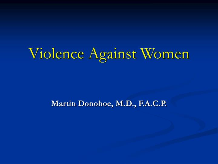 violence against women n.