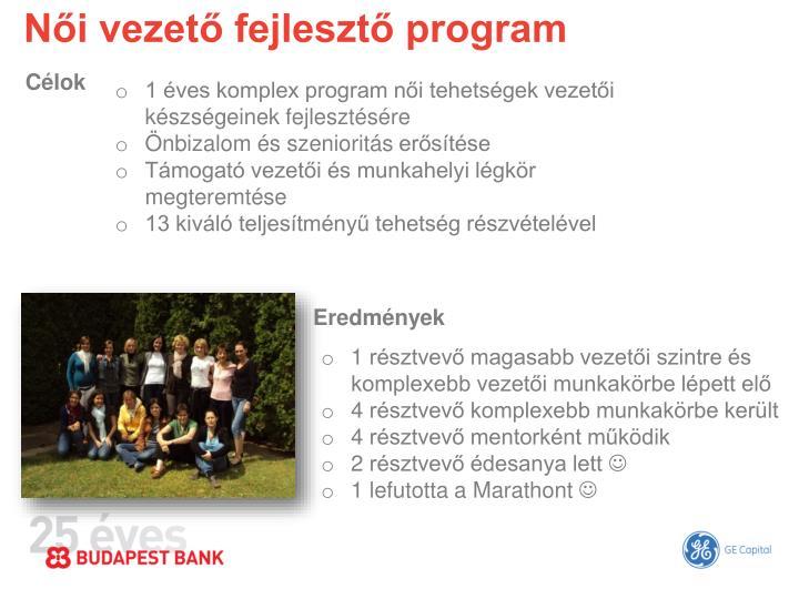 Női vezető fejlesztő program