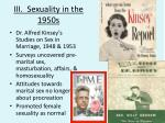 iii sexuality in the 1950s