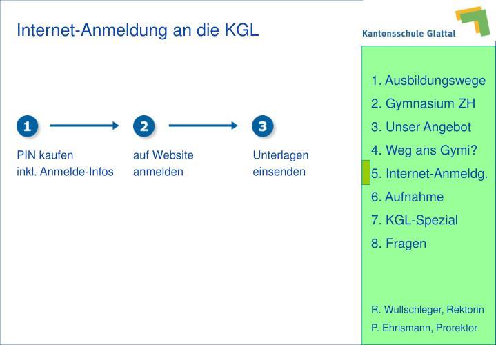 Internet-Anmeldung an die KGL