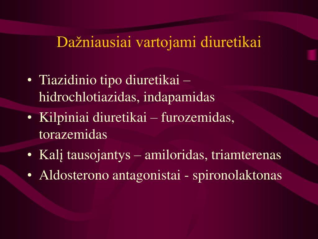 kilpiniai diuretikai nuo hipertenzijos