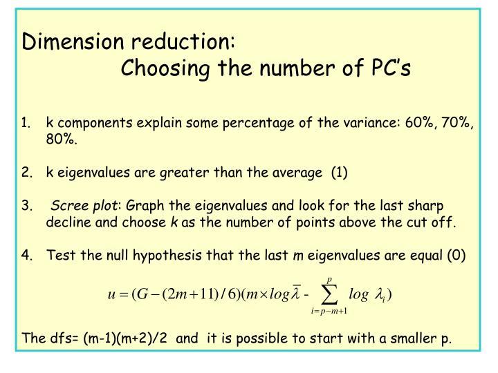Dimension reduction: