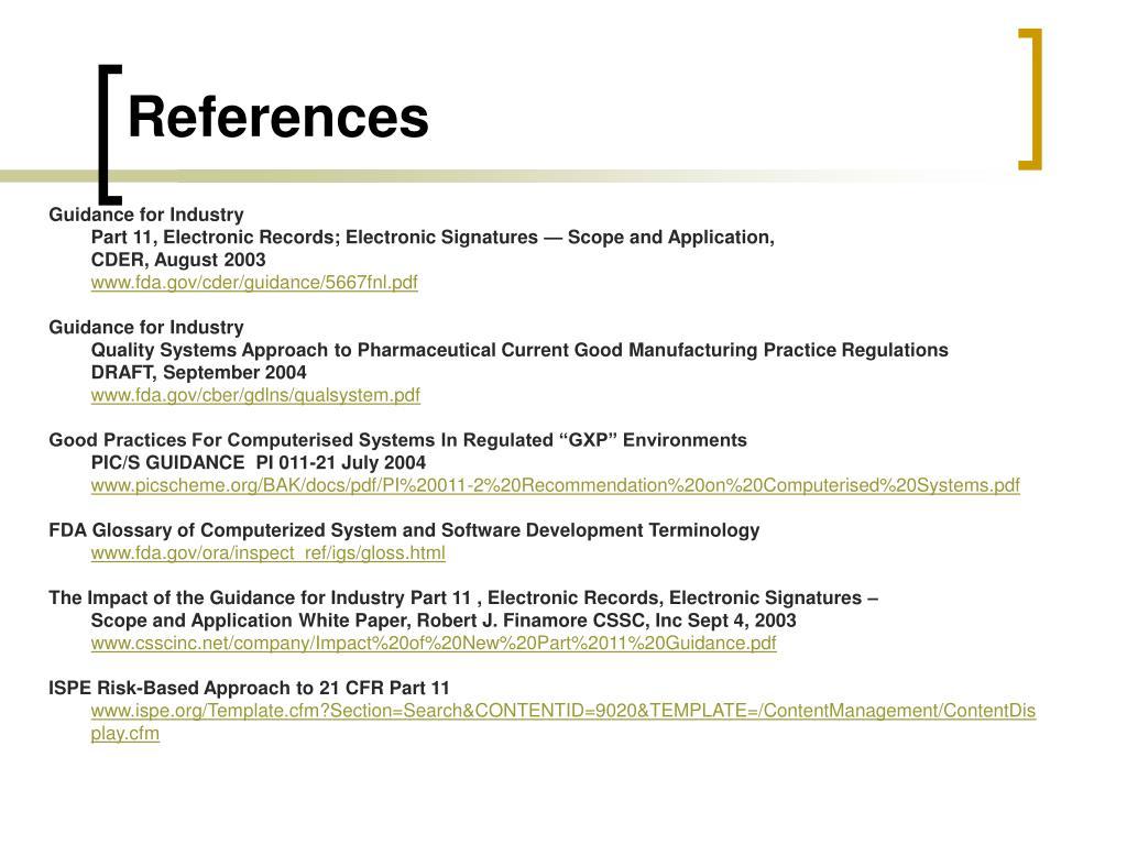 PPT - 21 CFR Part 11 PowerPoint Presentation - ID:3567780