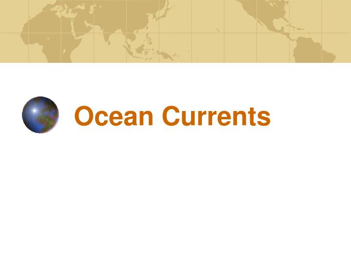 ocean currents n.