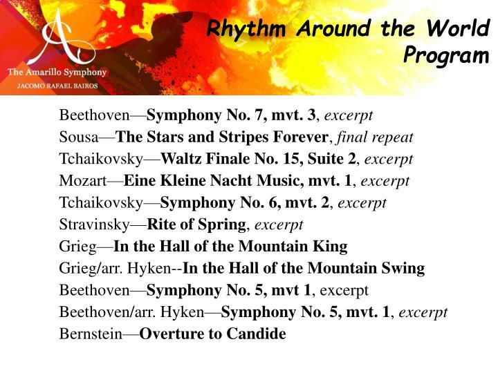 Rhythm Around the World