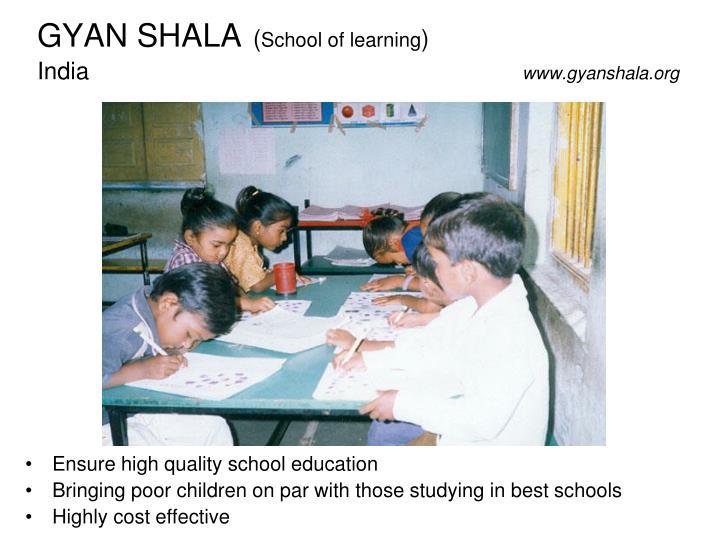 gyan shala school of learning india www gyanshala org n.