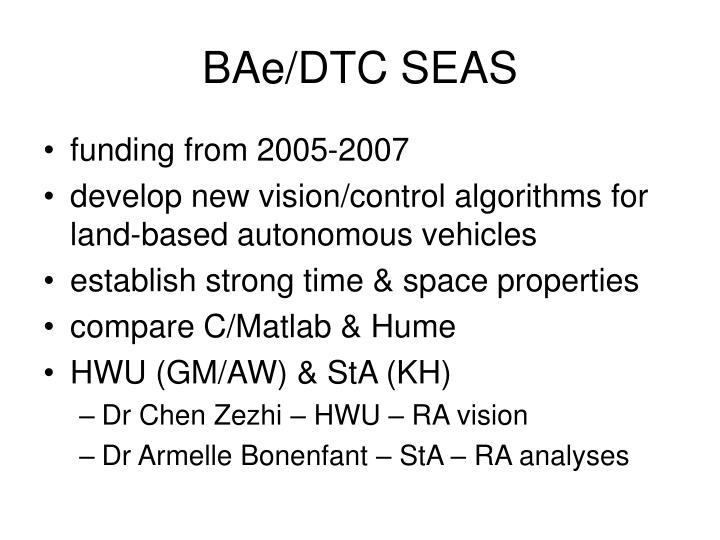 BAe/DTC SEAS