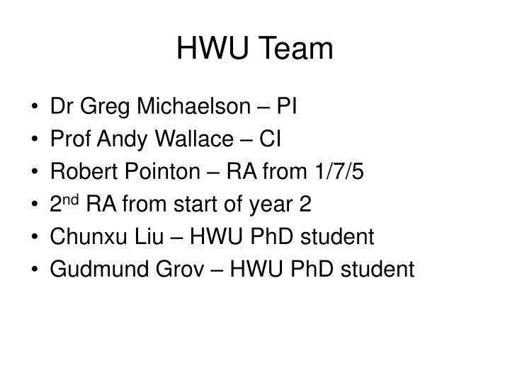 HWU Team