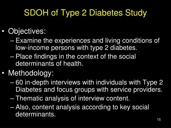 SDOH of Type 2 Diabetes Study
