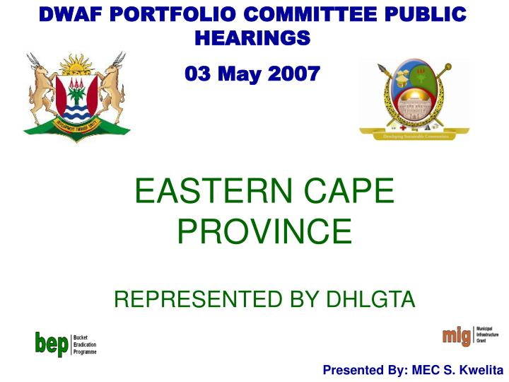 eastern cape province represented by dhlgta n.