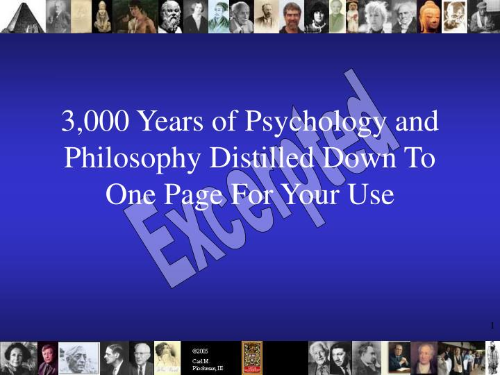 3 000 years of psychology and philosophy distilled down to one page for your use