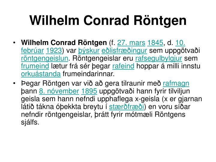 wilhelm conrad r ntgen n.