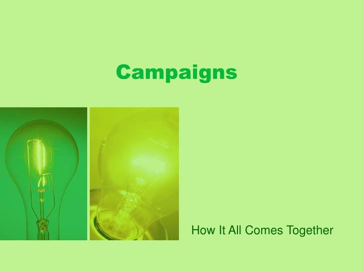campaigns n.