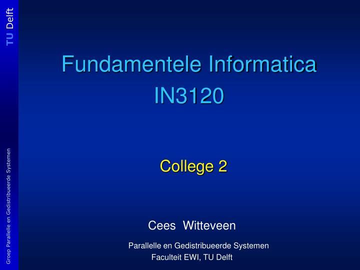 fundamentele informatica in3120