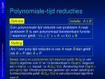 polynomiale tijd reducties