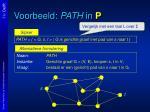 voorbeeld path in p