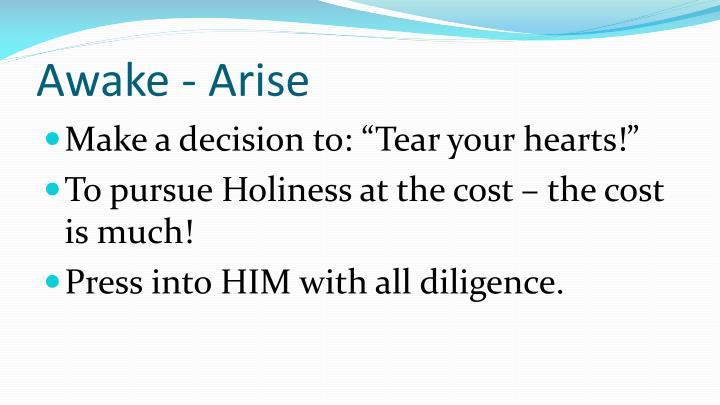 Awake - Arise