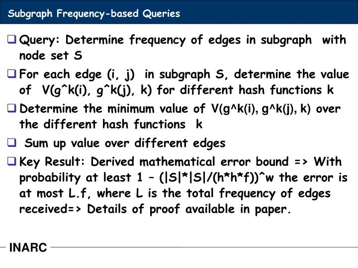 Subgraph Frequency-based Queries