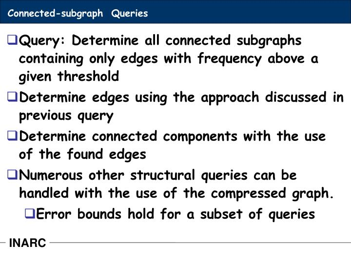 Connected-subgraph  Queries