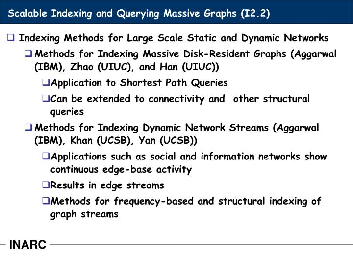 Scalable Indexing and Querying Massive Graphs (I2.2)