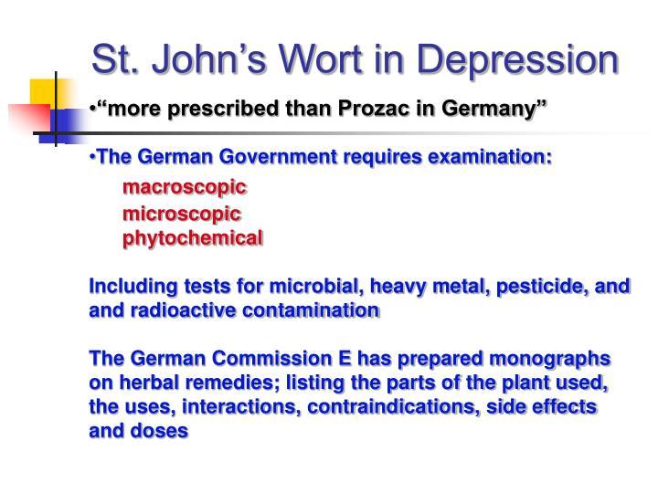 St. John's Wort in Depression