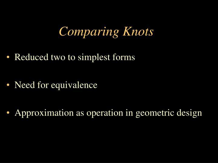 Comparing Knots
