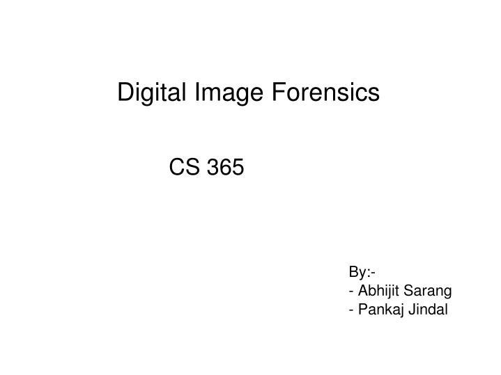 digital image forensics n.