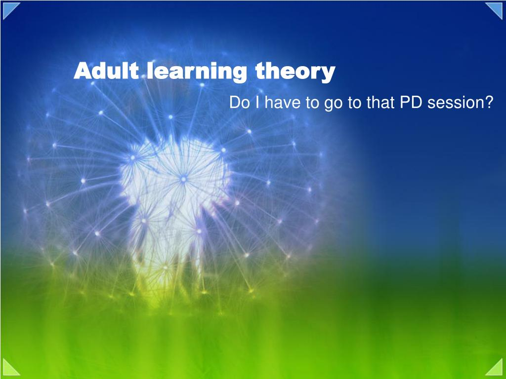 what are adult learning theories