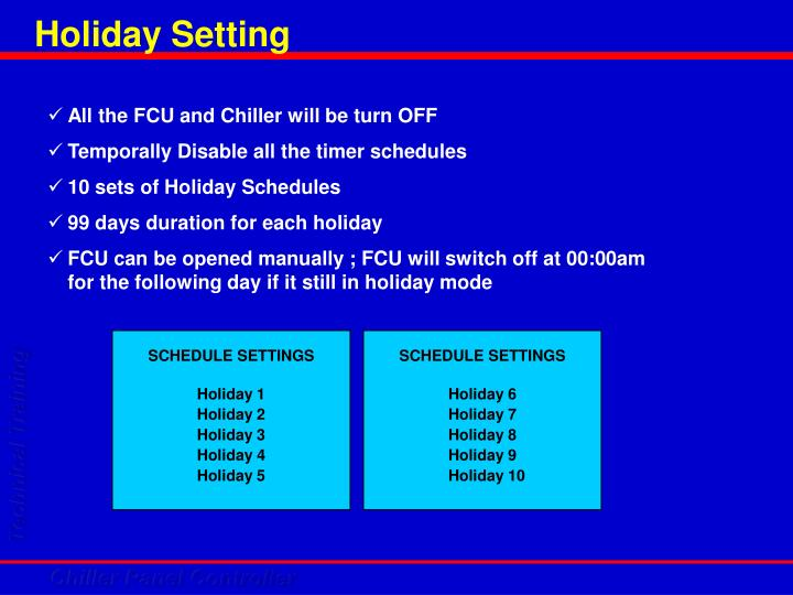 Holiday Setting