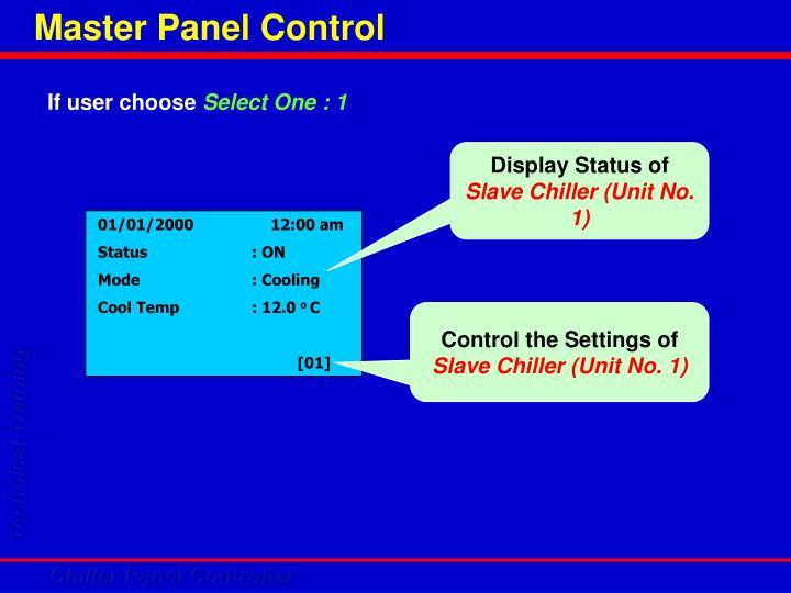 Master Panel Control