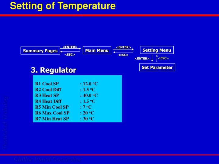 Setting of Temperature