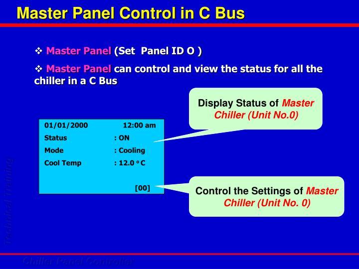 Master Panel Control in C Bus