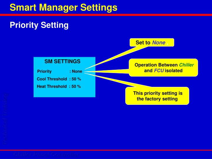 Smart Manager Settings