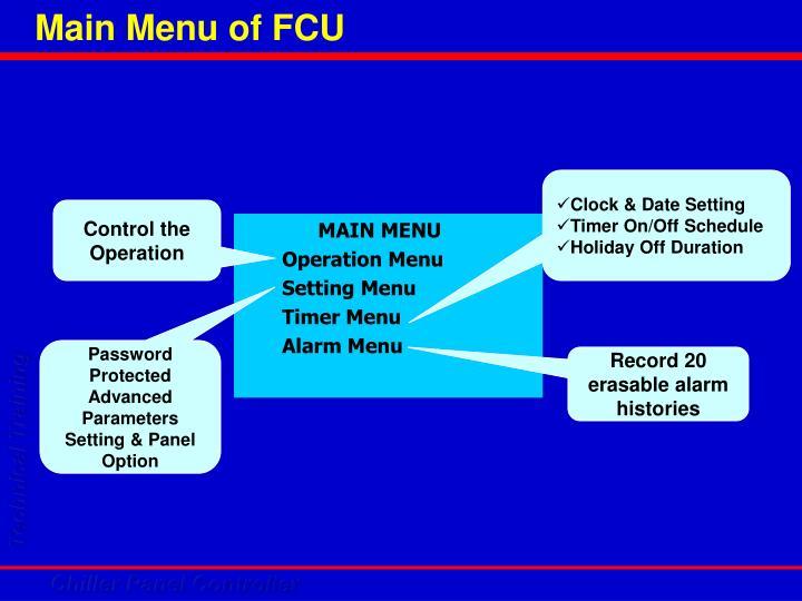 Main Menu of FCU