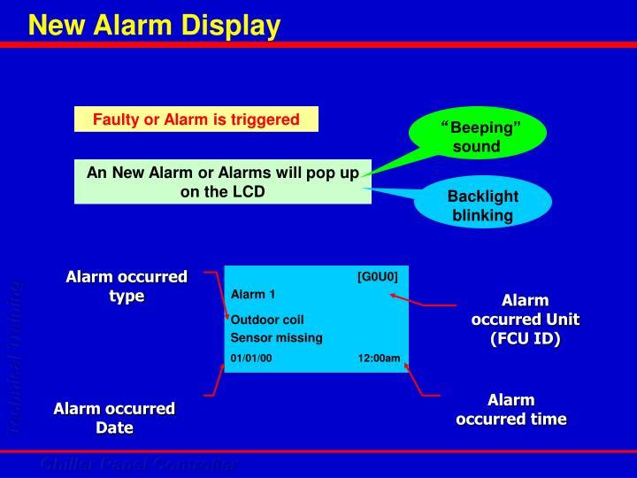 New Alarm Display