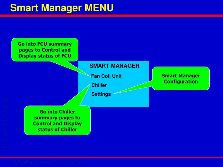 Smart Manager MENU