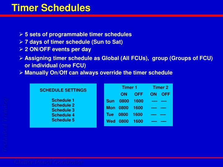 Timer Schedules