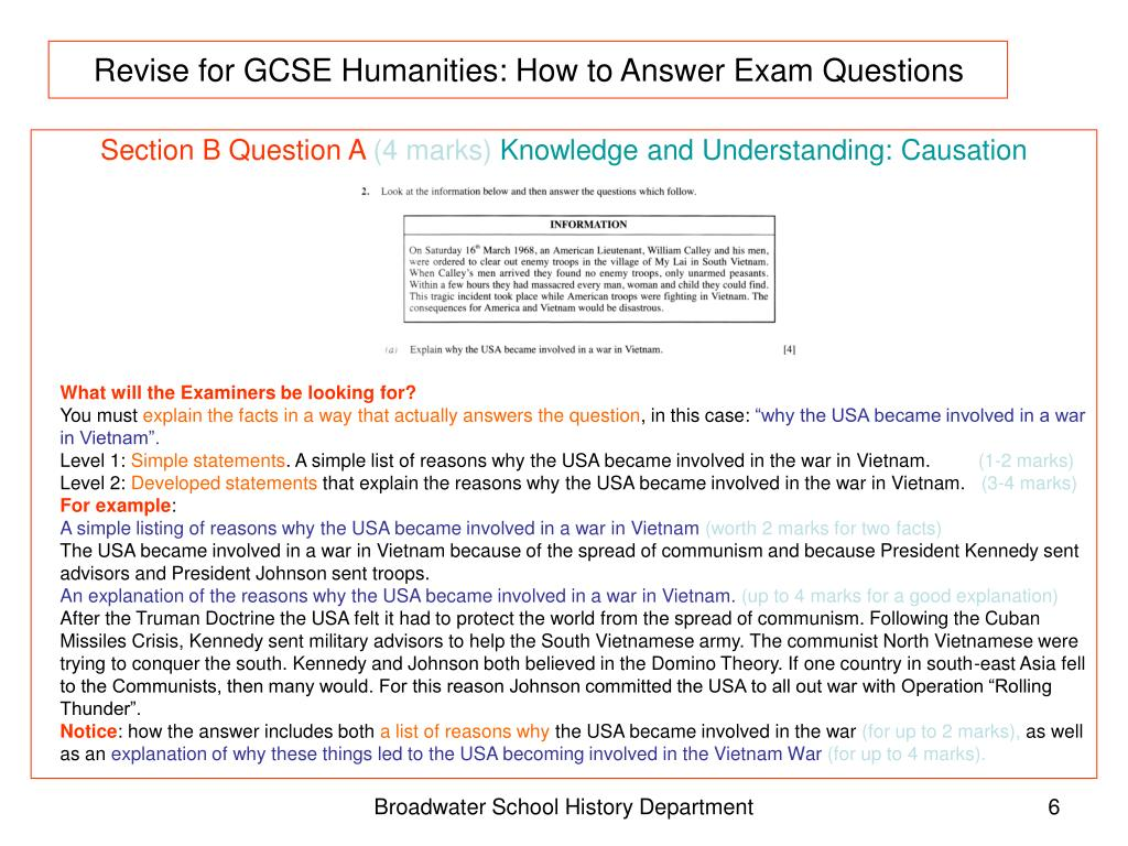 PPT - Revise for GCSE Humanities: How to Answer Exam