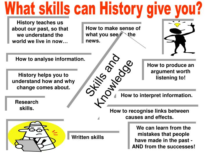 What skills can History give you?