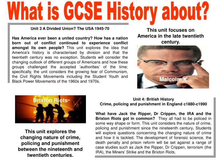 What is GCSE History about?