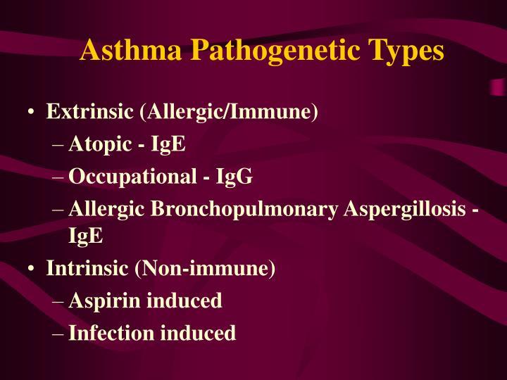 Asthma Pathogenetic Types