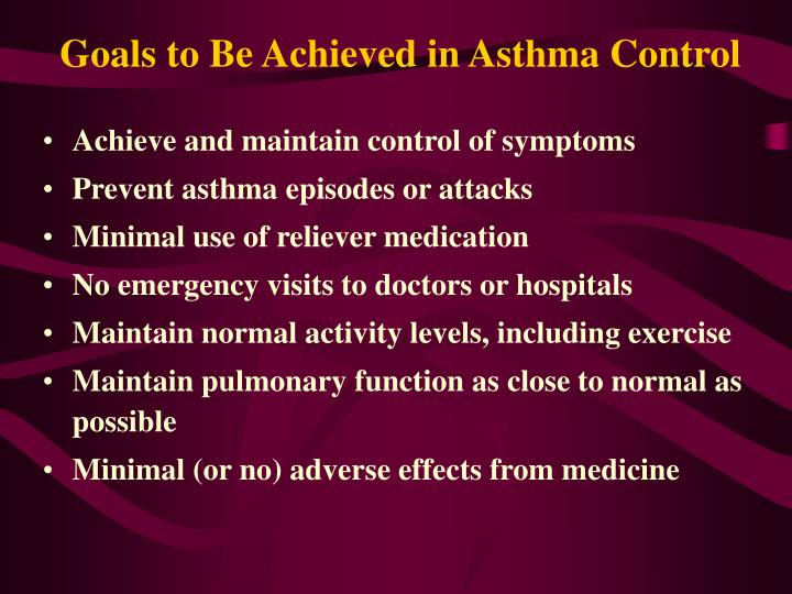Goals to Be Achieved in Asthma Control