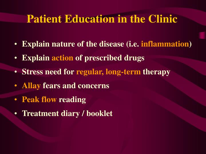 Patient Education in the Clinic