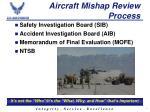 aircraft mishap review process